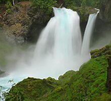 Sahalie Falls, Oregon by DArthurBrown