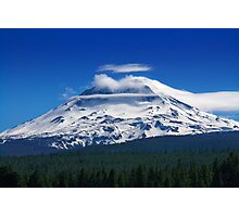 Clouds Streaming Over South Sister Photographic Print