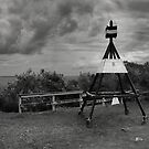 Trig Point - Rangitoto by Peter Denniston