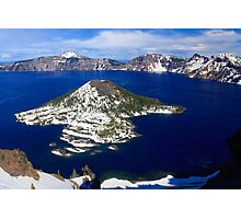 Wizard Island, Crater Lake National Park Photographic Print