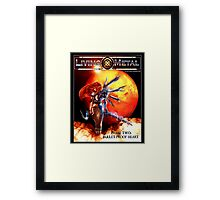 Bullet proof heart Framed Print
