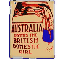 Australia invites the British domestic girl  iPad Case/Skin