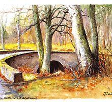 Bridge at Littlemill, Glenmuick, Scotland by Dai Wynn