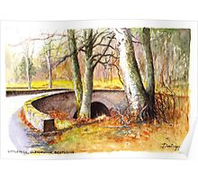 Bridge at Littlemill, Glenmuick, Scotland Poster