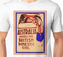 Australia invites the British domestic girl  Unisex T-Shirt