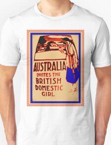 Australia invites the British domestic girl  T-Shirt