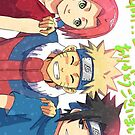 Team 7- Naruto iPhone Case by squidkid
