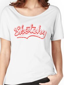 Sketchy red Women's Relaxed Fit T-Shirt