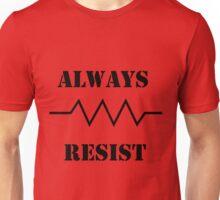 Resist in Black Unisex T-Shirt