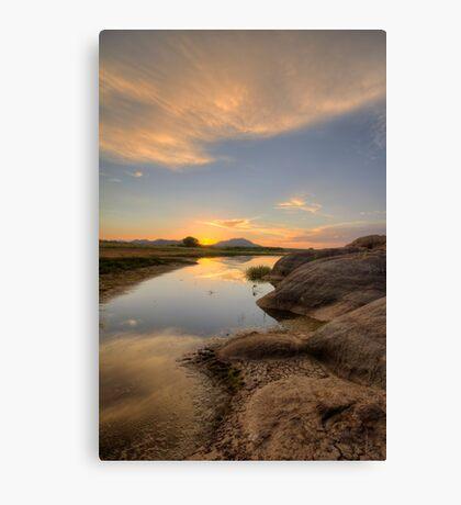 Sunset Bumps Canvas Print
