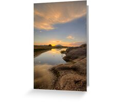 Sunset Bumps Greeting Card