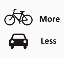 BIKE more CAR less by PaulHamon