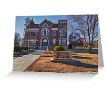 Rush County, Kansas, Courthouse Greeting Card