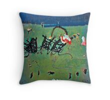 Wall Scribblings Throw Pillow