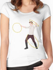 Mamma Mia, Triple Hoop Action Women's Fitted Scoop T-Shirt