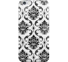 White with Black Vintage iPhone Case/Skin