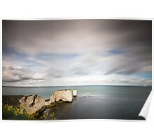 The Old Harry Rocks Poster