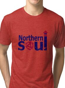 Weathered  Retro look northern Soul Tri-blend T-Shirt