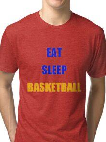 EAT SLEEP BASKETBALL Warriors Colors Tri-blend T-Shirt