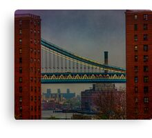 View From The Brooklyn Bridge, New York City Canvas Print