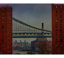 View From The Brooklyn Bridge, New York City Photographic Print