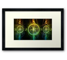 ©DA Fractal Time Framed Print