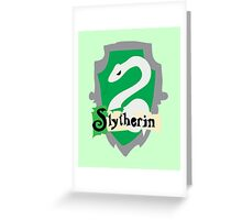 Slytherin Crest Greeting Card