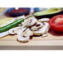 Mushrooms and other vegetables Photographic Print