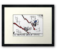 Tata and PC Downward Stocks Caricature Framed Print