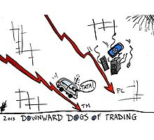 Tata and PC Downward Stocks Caricature Photographic Print