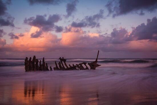 S.S Dicky sunset by Rosie Appleton