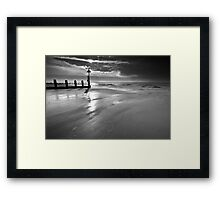 At What Point BW Framed Print