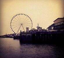 The Ferris Wheel at Seattle by BenVess