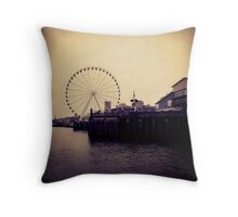 The Ferris Wheel at Seattle Throw Pillow