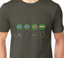 Minimal Armed Turtles Unisex T-Shirt