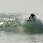Straddie surfer by Jenny Dean