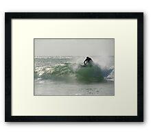 Straddie surfer Framed Print