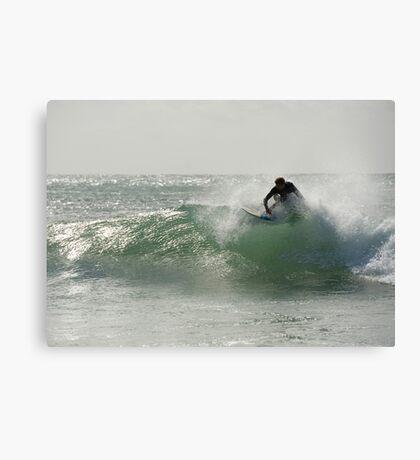Straddie surfer Canvas Print