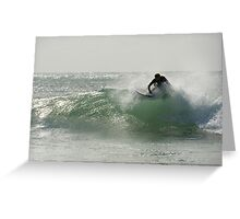 Straddie surfer Greeting Card