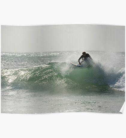 Straddie surfer Poster