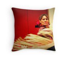 See-Through Dress Throw Pillow