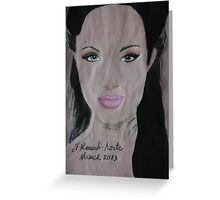 Angelina 09 Greeting Card