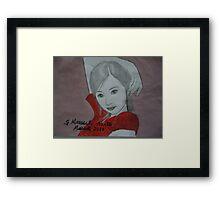 Asian girl Framed Print