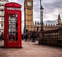 Red Phone Box and Big Ben by cvbphoto