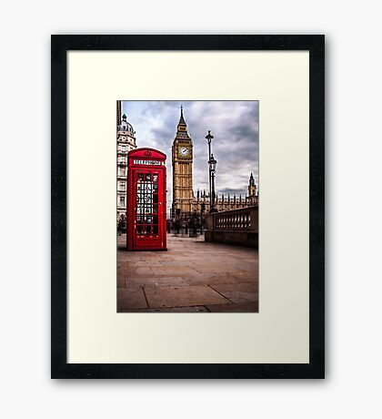 Red Phone Box and Big Ben Framed Print