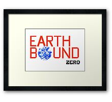 Earth Bound Zero Logo Framed Print
