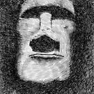 Fingerprint - Easter island - moai statue by nicolasjolly