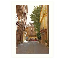 Small Street in Central Vannes Brittany France Art Print