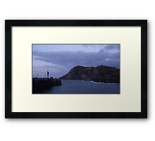 The Elephant and Verity Framed Print