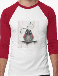 Little Owl Men's Baseball ¾ T-Shirt